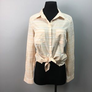 Marcuse tie front button up woman's top